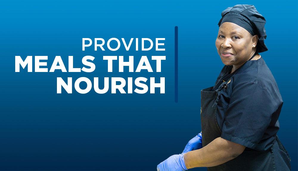 Provide meals that nourish